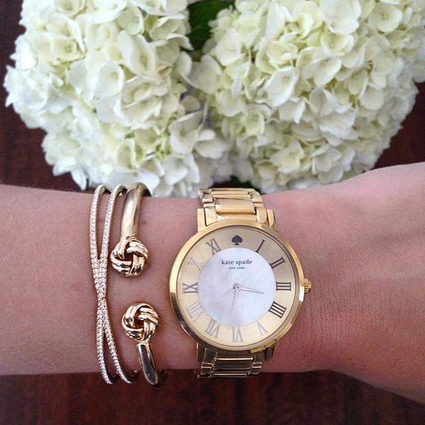 Currently Covet Kate Spade Gold Watches