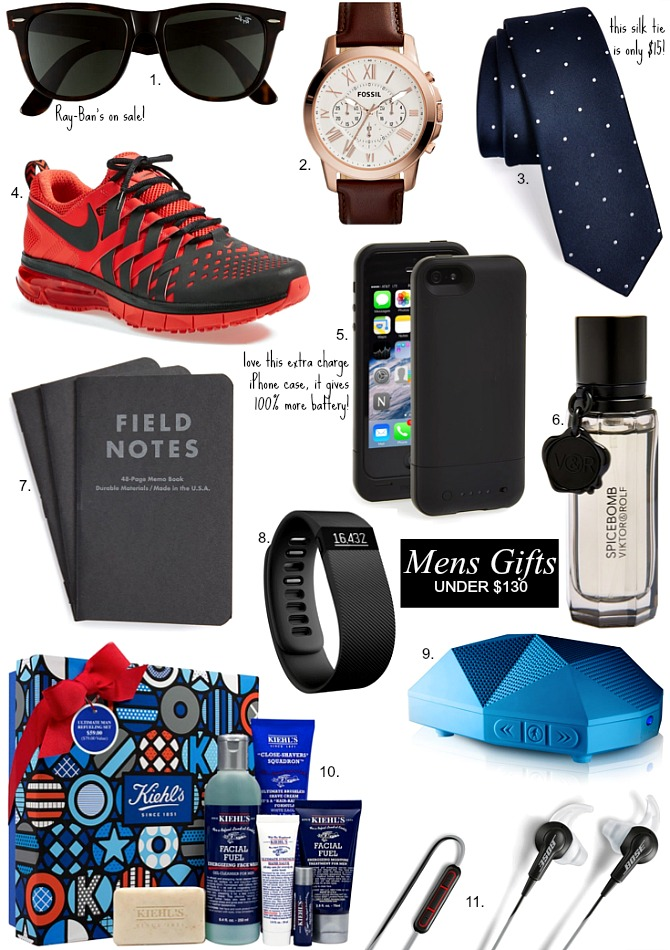 Good mens gift ideas under $130 christmas present