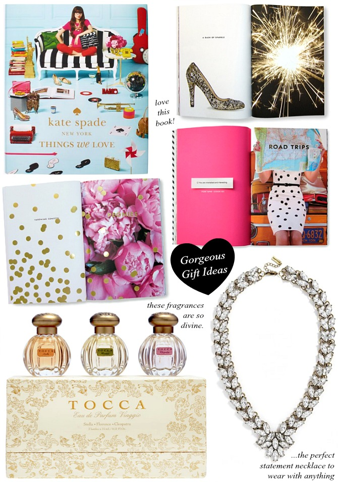 the best last minute christmas Gift Ideas kate spade things we love book baublebar garland brooch statement necklace fashion blogger tocca cleopatra stella florence perfume