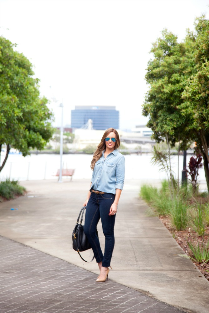 how to wear denim on denim sears celebrity fashion jeans blogger style blog www.stylelixir.com style elixir lauren slade