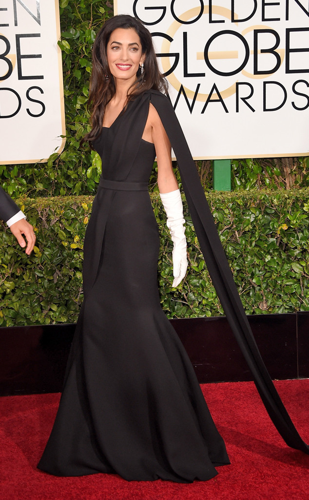 Amal Clooney golden globes best dressed 2015