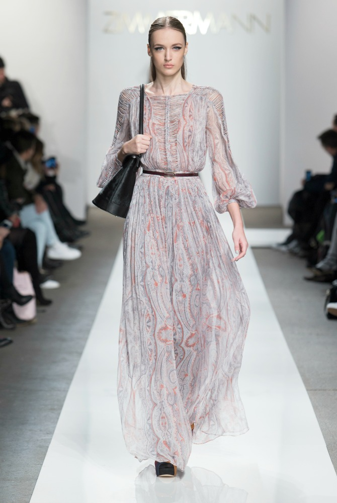 Zimmermann Fall 2015 collection new york fashion week show NYFW long pink coat style elixir fashion blog