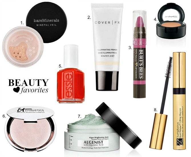 the best beauty products bare minerals illuminating veil cover fx primer burts bees hawaiian smoulder lip crayon mac concealer best mascara essie clambake olivia palermo red nail polish face mask brightening beauty blogger style elixir blog