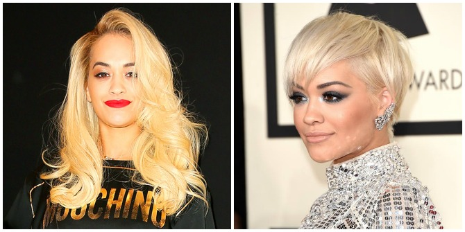 Rita Ora short hair cut 2015