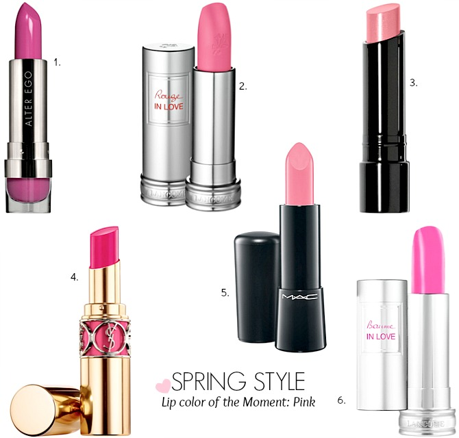 Spring Pink Lipstick