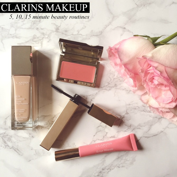 Clarins makeup review 5 10 15 minute makeup beauty blogger