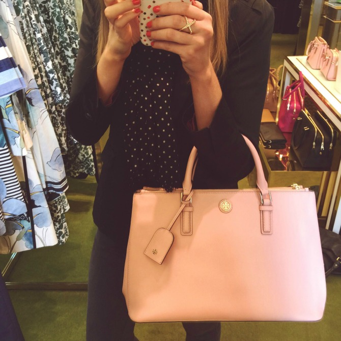 Tory Burch Pink Robinson handbag