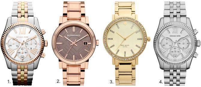 Half yearly nordstrom sale michael kors lexington watch kate spade gramercy grand watch burberry check watch