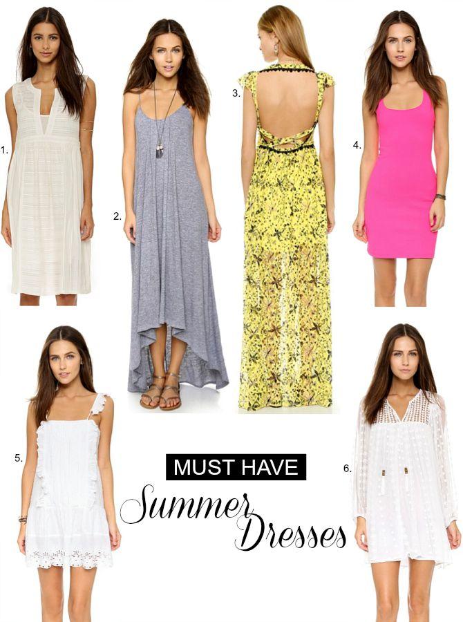 Best Summer Dresses white dress maxi dress high low dress bright pink dress summer fashion style trends