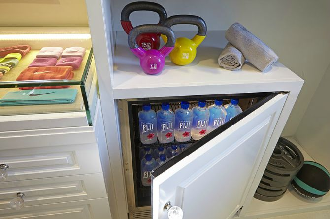 khloe kardashian fitness closet fiji water