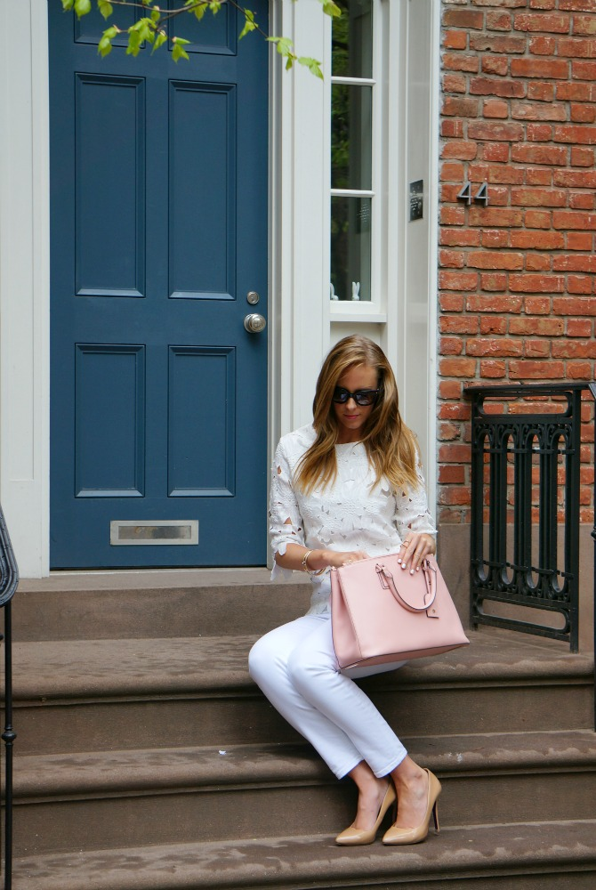 wearing white on white in the west village new york