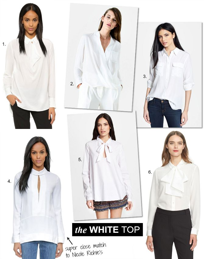 Nicole Richie Outfit the best white blouse