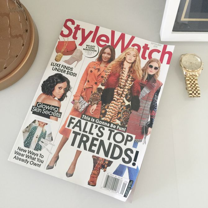 People StyleWatch Magazine September Issue Cover Style Elixir Lauren Slade Fashion Blogger
