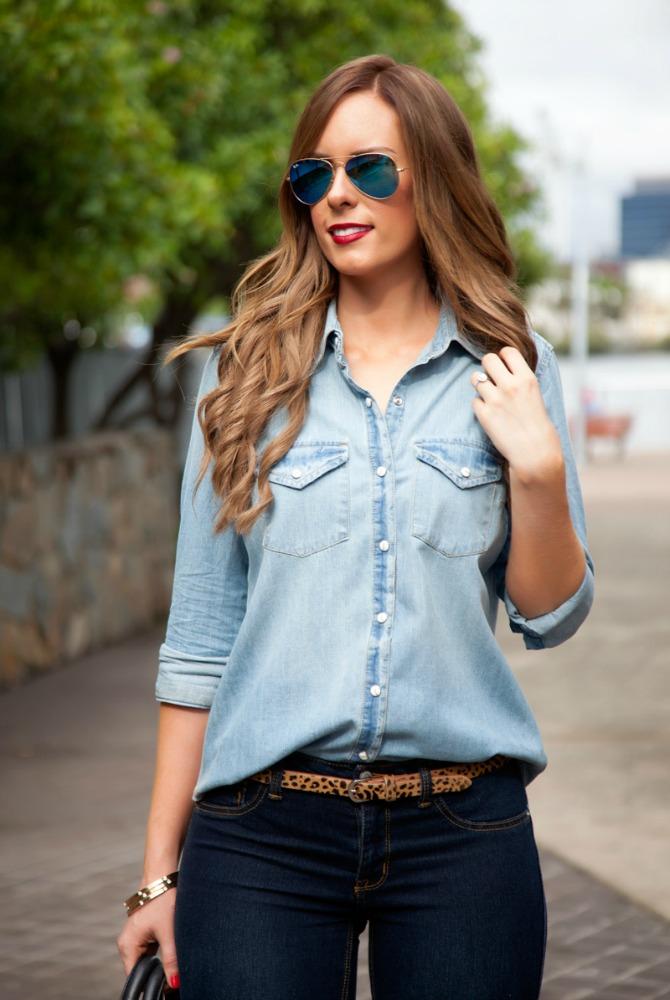 How To Style Denim on Denim Lauren Slade Style Elixir fashion blogger