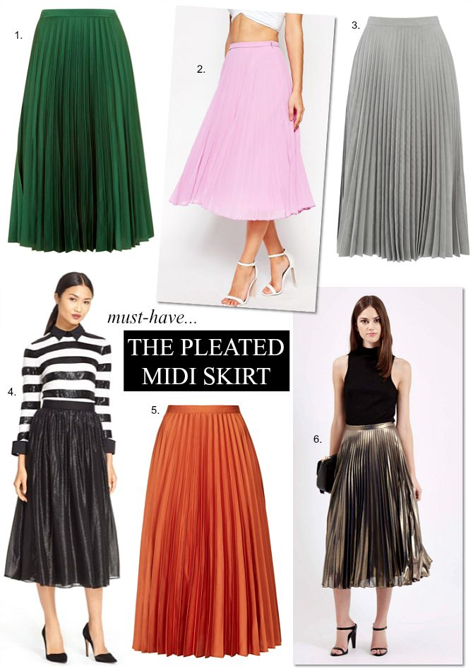 Pleated Midi Skirts Archives - Style Elixir