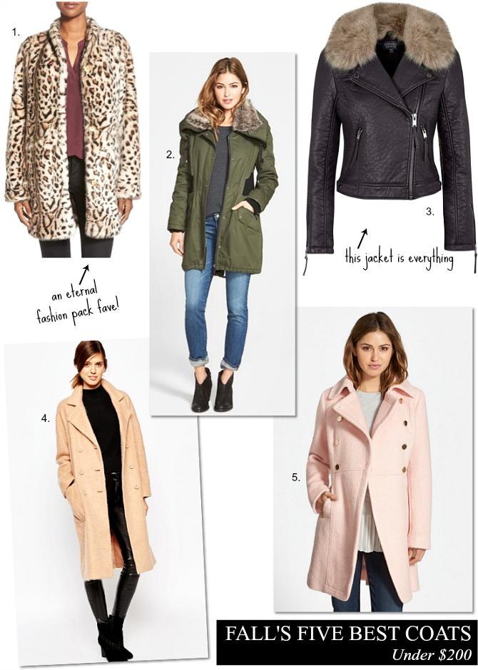 Fall's Best Coats Under $200 fashion blog lauren slade style elixir blog best womens coats fur leather military blush coat tan wool coat