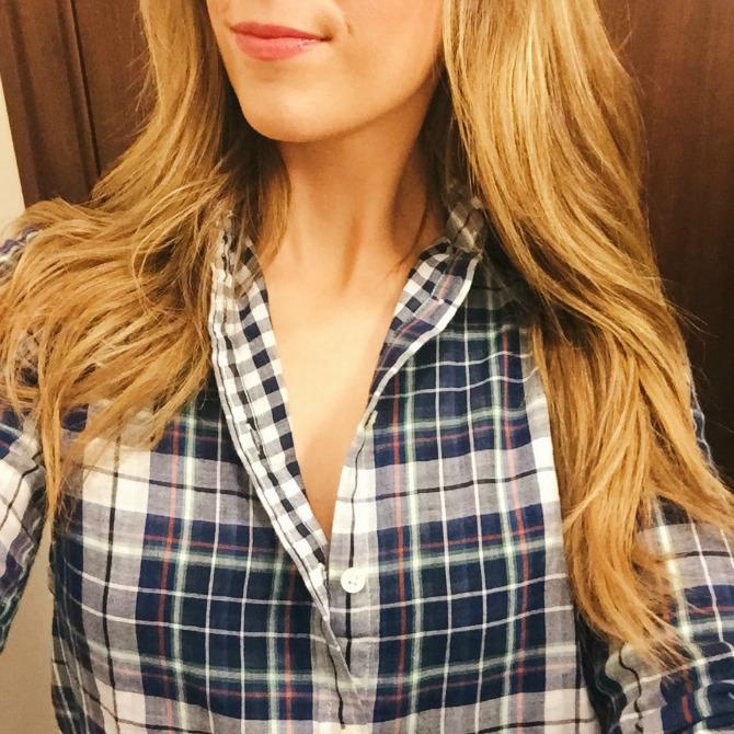Banana Republic sale the best plaid shirt fall fashion style elixir blog lauren slade new york blogger