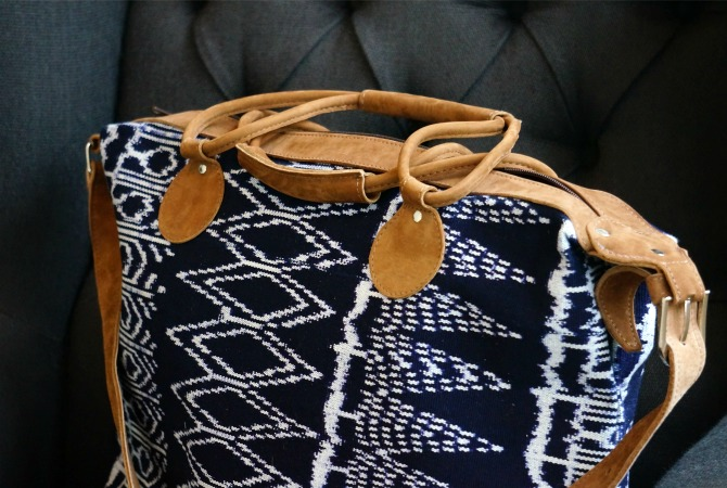 Ikat weekender bag global goods partners artisan maya traditions fair trade goods usa