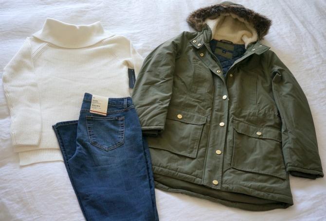 tommy hilfiger khaki jacket coat fur hood tommy hilfiger macys jeans style elixir fashion blog
