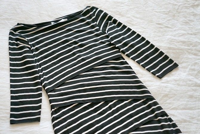 Bailey44 stripe dress black white navy best stripe dress