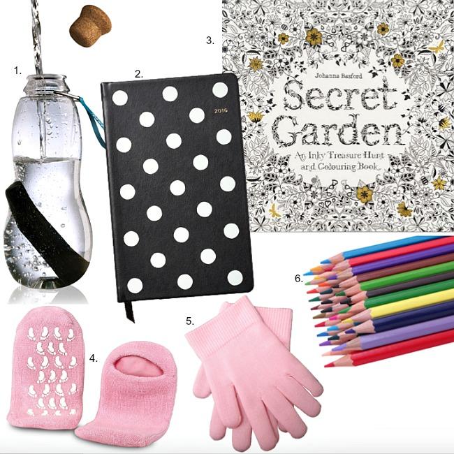 New year resolutions charcoal water best adult coloring book gel moisture socks gloves kate spade polka dot planner