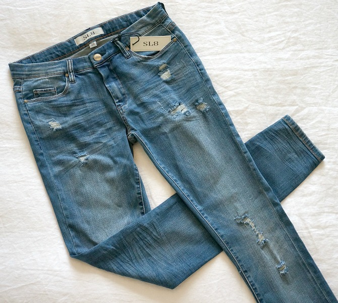SL8 Jeans distressed jeans