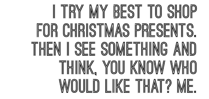 Christmas shopping funny quote
