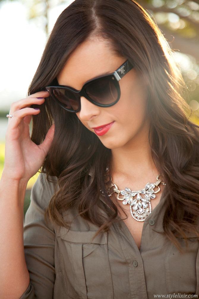 military trend khaki shirt lauren slade new york blogger style elixir fashion blog