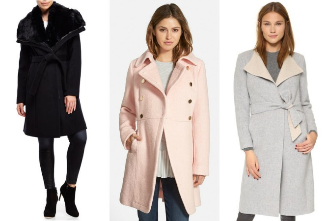 designer wool coats sale blush pink