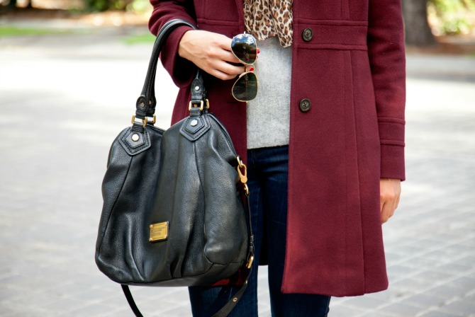 The Best Winter coat michael kors coat winter wool leopard scarf tall black knee high boots fashion blogger new york style lauren slade style elixir blog