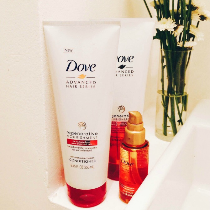 Dove Regenerative Shampoo Conditioner hair serum oil review