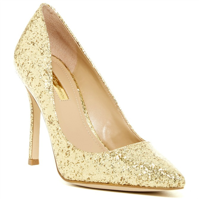 Gold Glitter Heels BCBGeneration Treasure Pump Heels metallic shoes