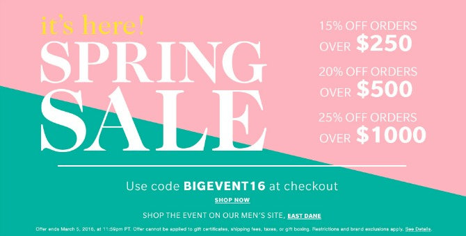shopbop sale coupon code promo code shopbop