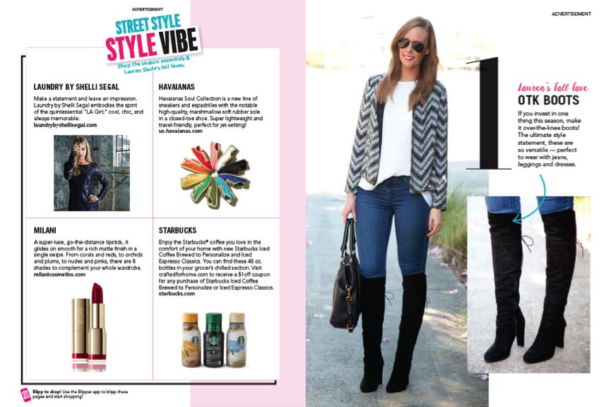 People Style Watch Magazine September Issue blogger lauren slade style elixir blog new york los angeles australia stuart weitzman otk boots
