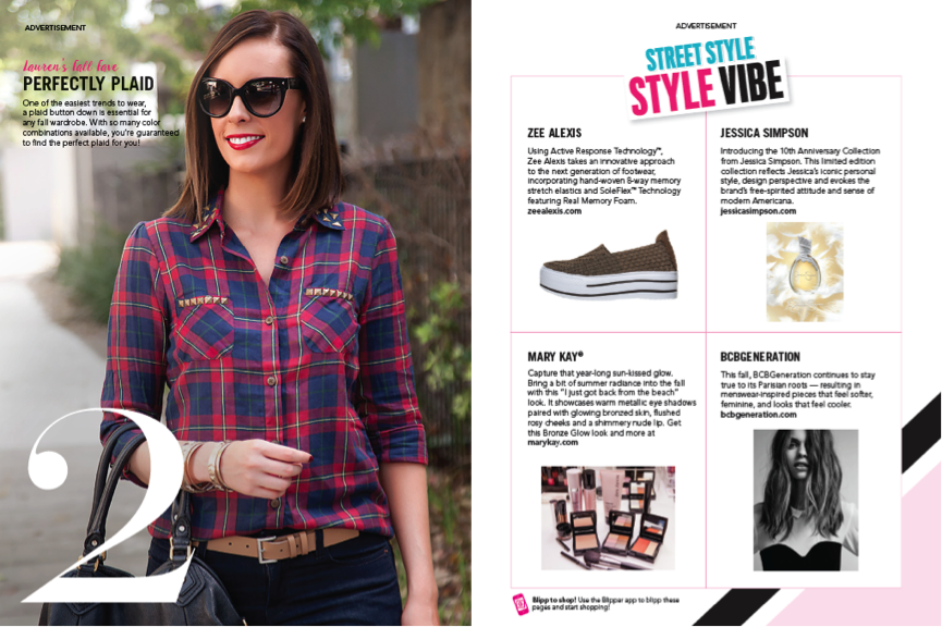 People Style Watch Magazine September Issue blogger lauren slade style elixir blog new york los angeles australia ladies plaid shirt