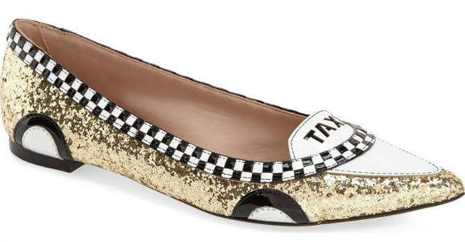 kate spade new york go flats and pumps taxi shoes gold glitter