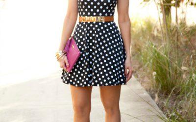 Style Sessions – Navy Polka Dot Dress