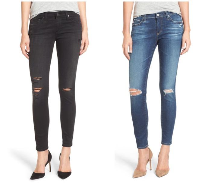 #Nsale AG jeans distressed denim