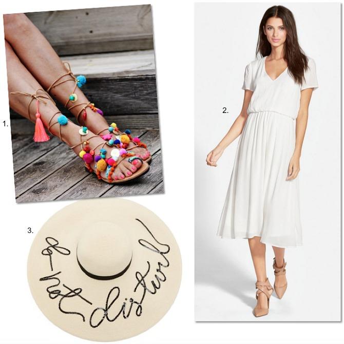 blogger-fashion-favorites-eugenia-kim-hat-wayf-midi-dress-elina-linardaki-gladiator-pom-pom-sandals-1