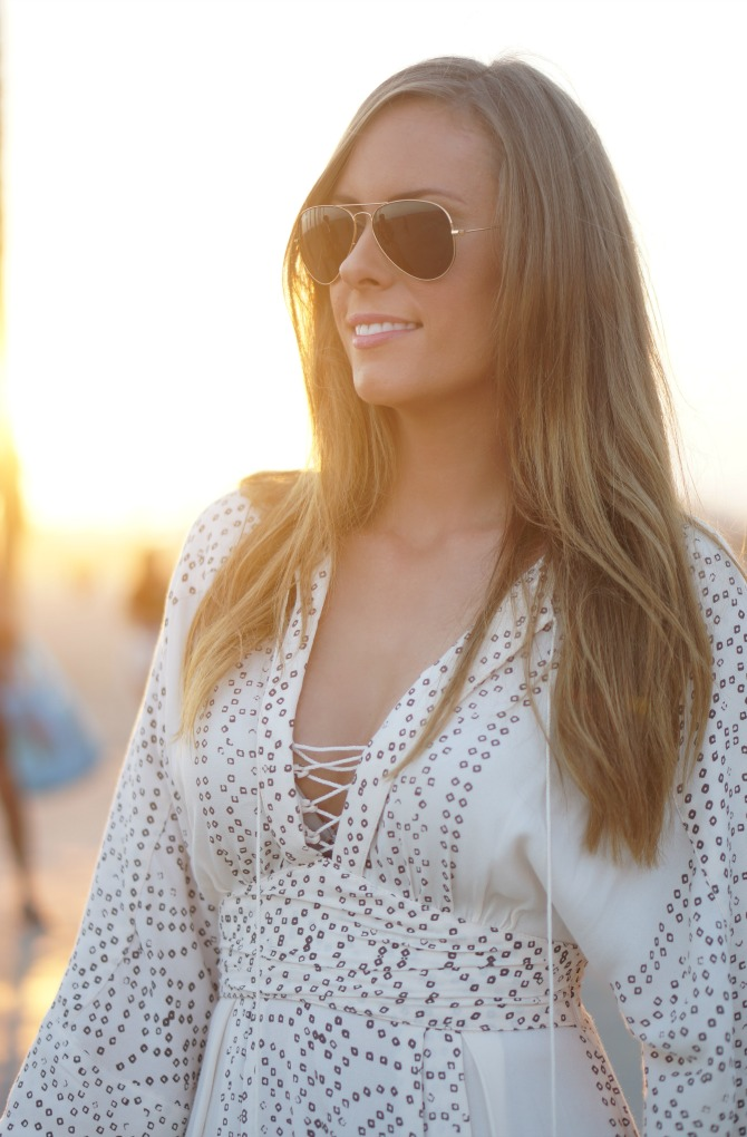 free people dress white maxi lauren slade fashion blogger style elixir blog los angeles santa monica beach