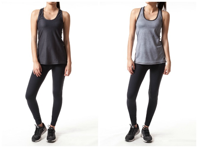 grey black reversible yoga tank top with la yoga clothing