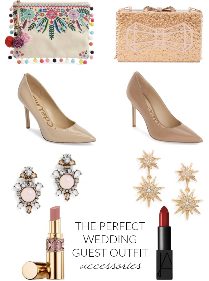 perfect outfit for wedding shoes bag lipstick accessories spring wedding summer wedding fall outfit ideas