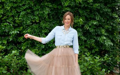 Style Sessions: Mixing High and Low – How To Style A Tulle Skirt and Chambray