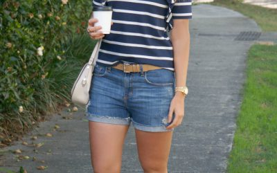 Style Sessions: Summer Outfit Ideas – Stripe Tee and Denim Shorts