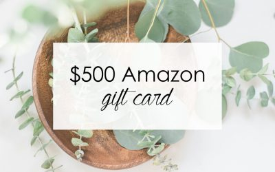 Giveaway! Win a $500 Amazon Gift Card