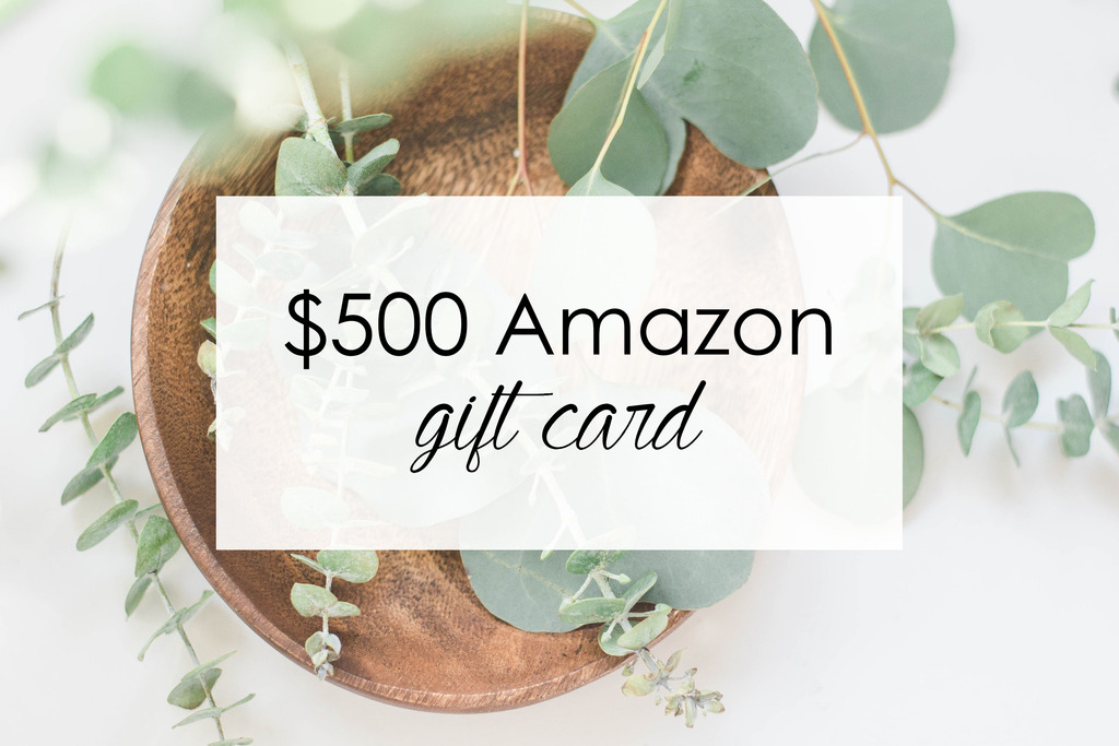 win a $500 amazon gift card blogger giveaway