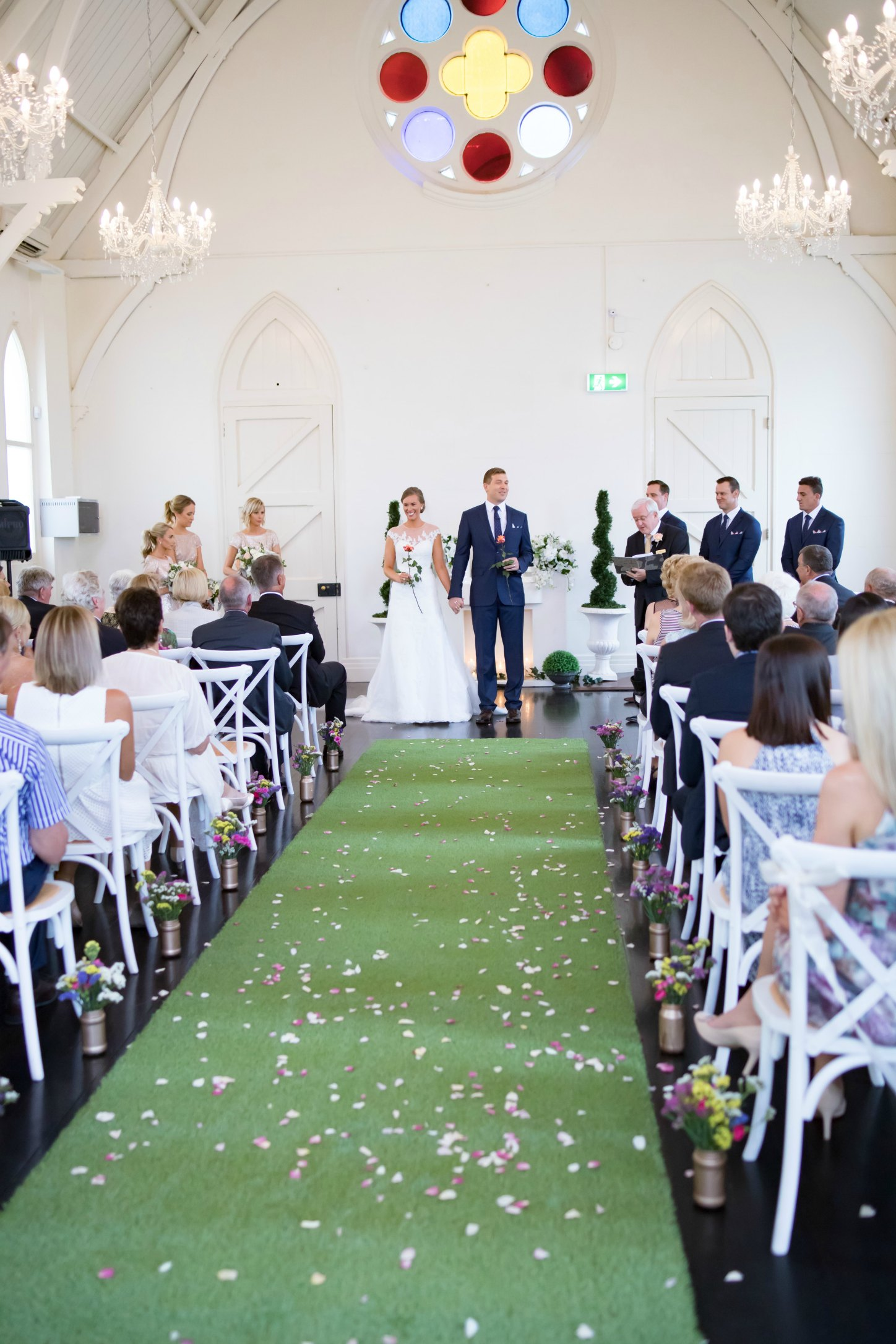 high church brisbane pretty wedding styling white church
