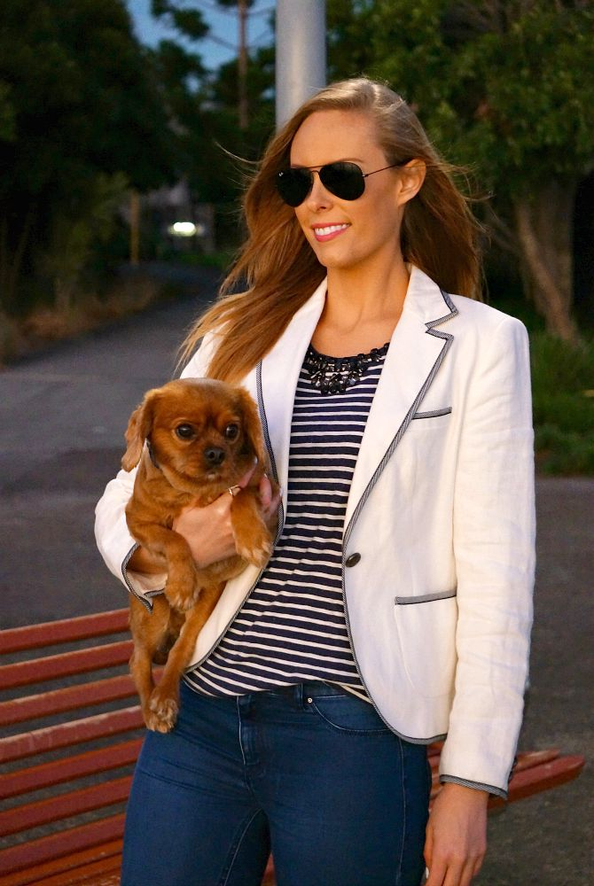 stylish ways to wear nautical outfits navy and white stripe kate spade sneakers 3