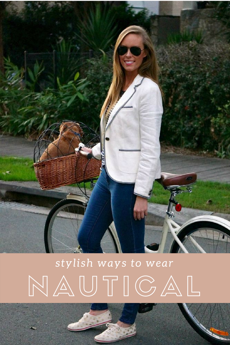 stylish ways to wear nautical outfits navy and white stripe
