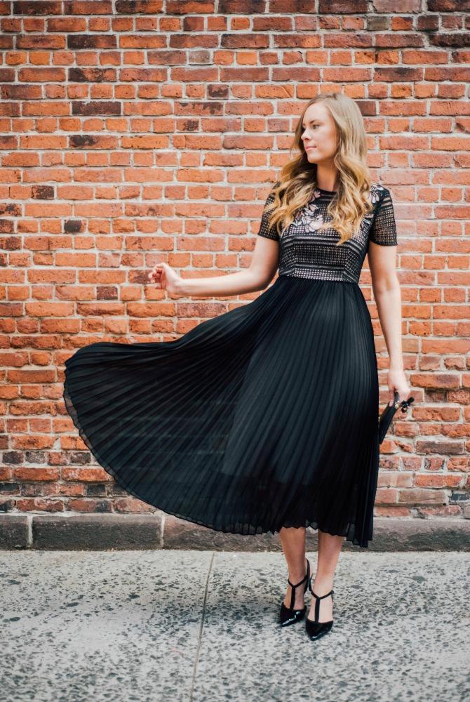 date night outfit black dress lk bennet kate middleton designer